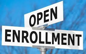 Open Enrollment on street sign