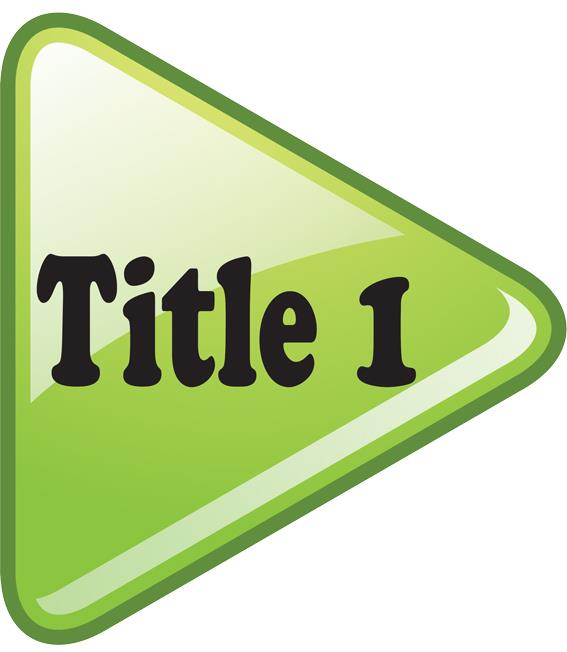 Title 1 in a green arrow pointing right