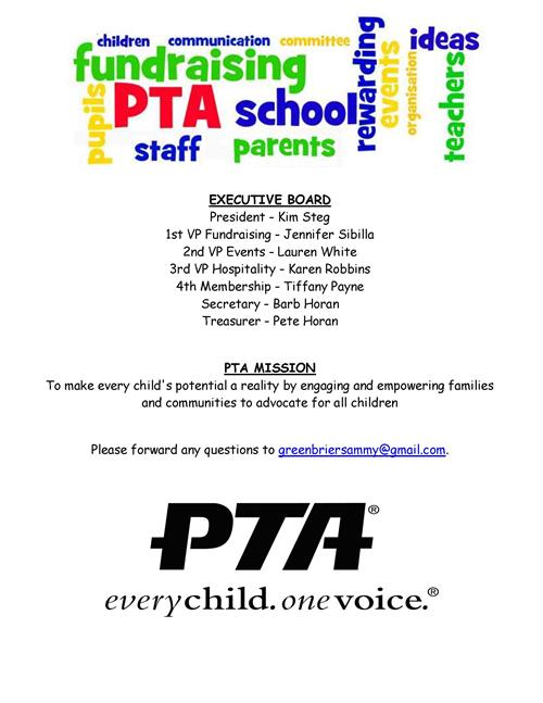 Meet GB 2019-2020 PTA Board