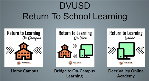 DVUSD Return to Learning Graphic