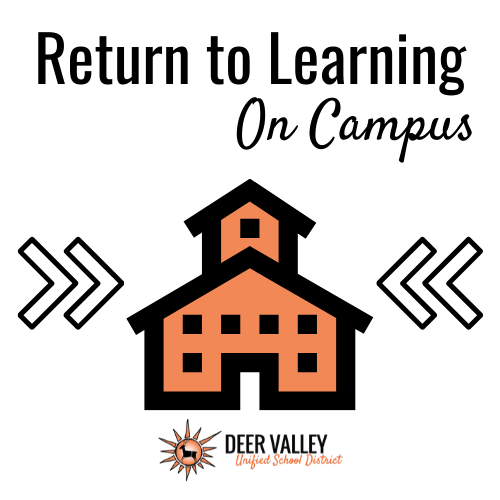 Return to Learning on Campus Icon Graphic