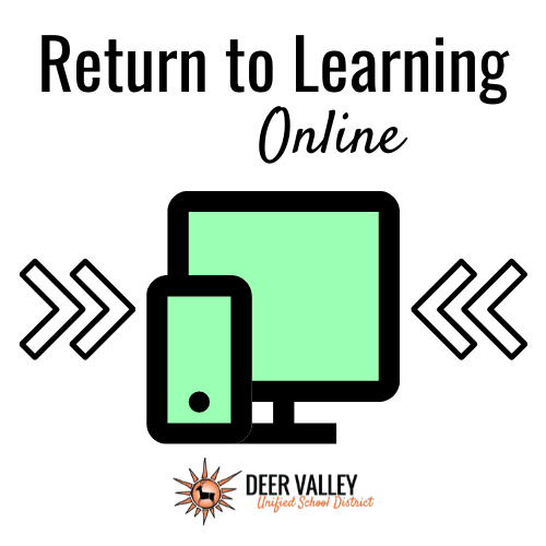 Return to Learning Online Icon Graphic Image