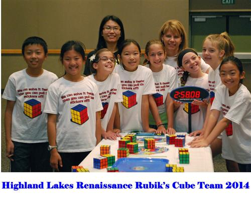 Elementary Rubik's Cube Team photo