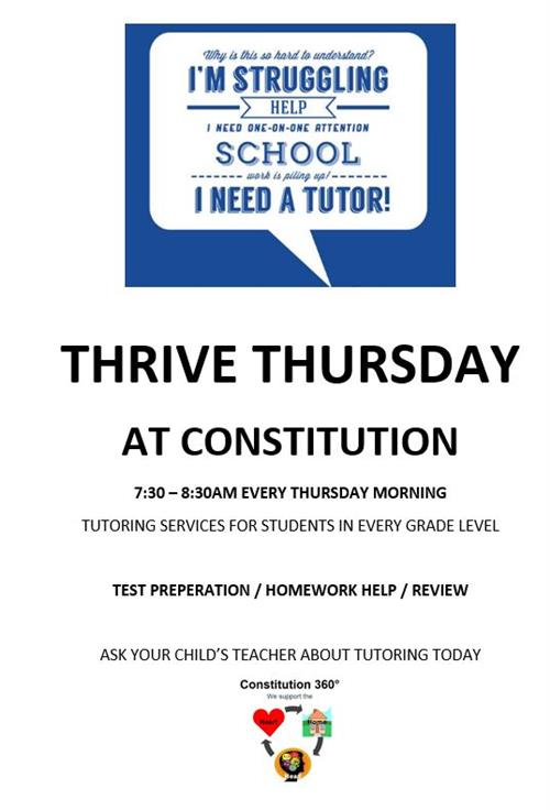 Come to Thrive Thursday