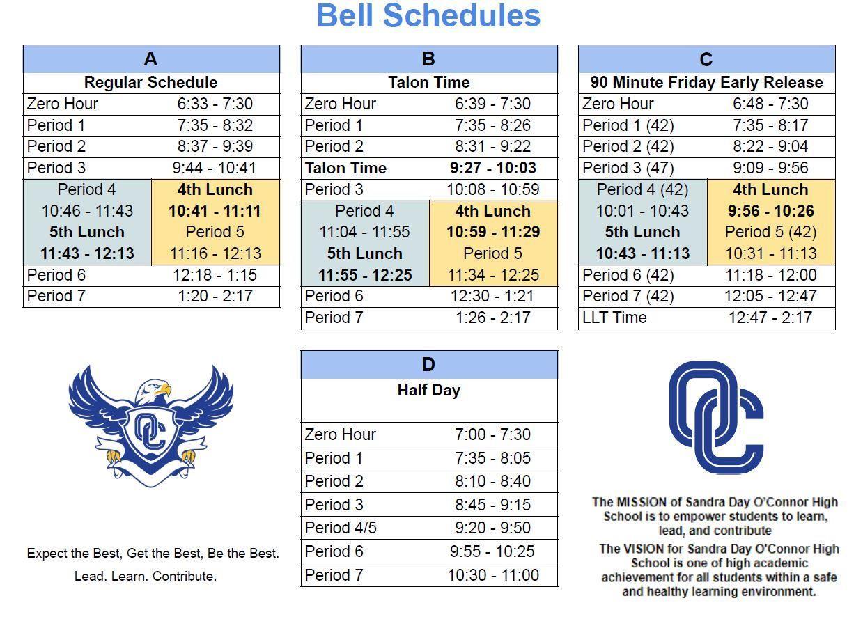 Bell Schedule 2021