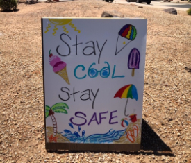 Stay cool stay safe poster