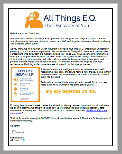 image of all things EQ parent letter
