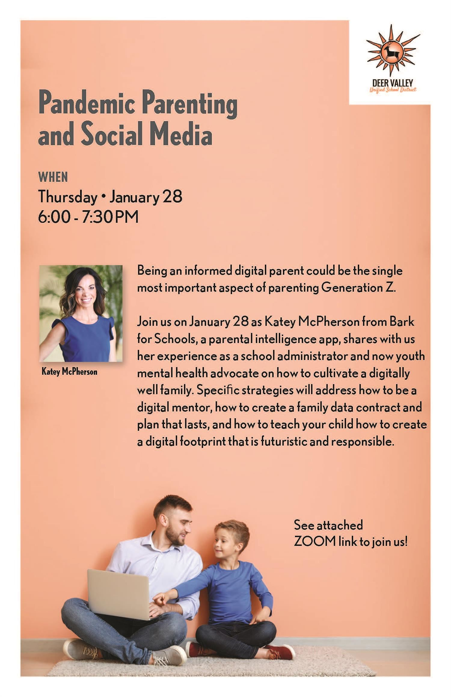 Pandemic Parenting and Social Media Webinar Jan. 28!