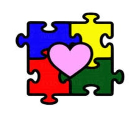 Puzzle pieces with heart