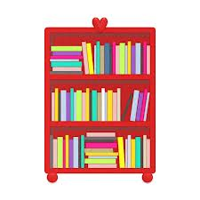 red heart bookshelf