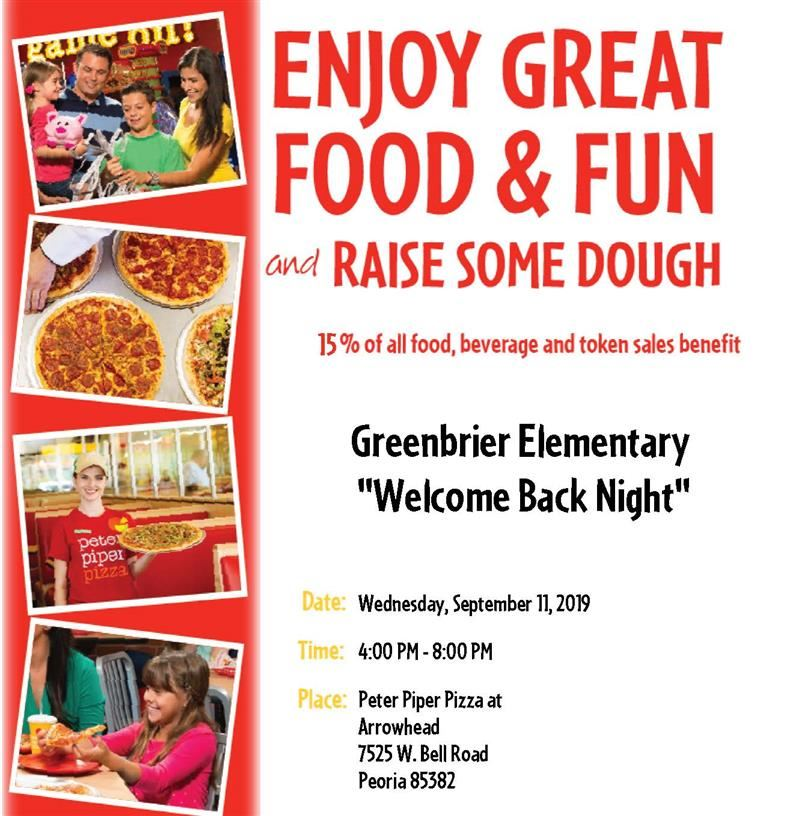 "Peter Piper ""Welcome Back Night"""