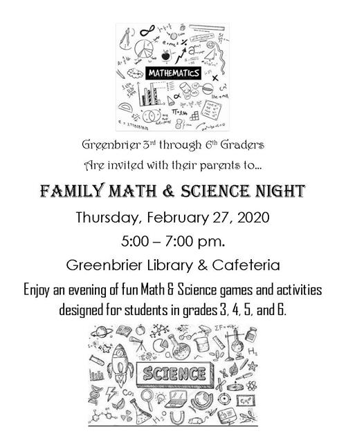 Family Math/Science Night