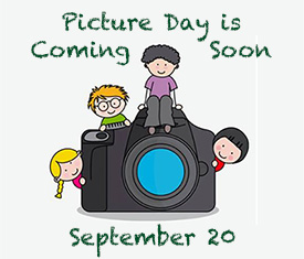 Picture day is coming soon. Kids sitting on a camera.