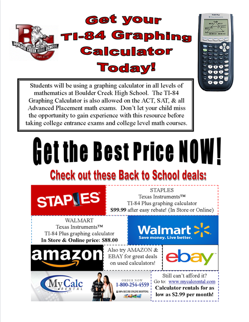 TI Calculator flyer
