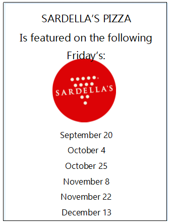 Sardellas Pizza featured on these Fridays!