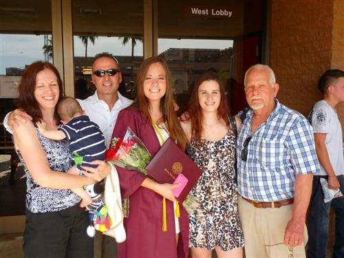 My college graduation. Here I am with my parents, grandpa and two of my siblings.