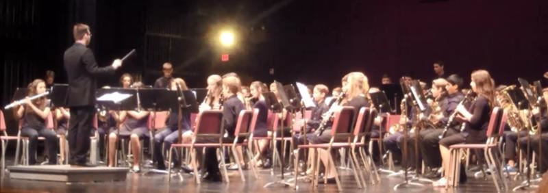 Our band performing on the MRHS stage for Spring Assessment, 2018.