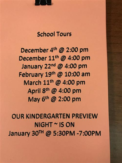 School Tour Dates