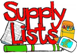 18-19 Supply Lists Are Posted!