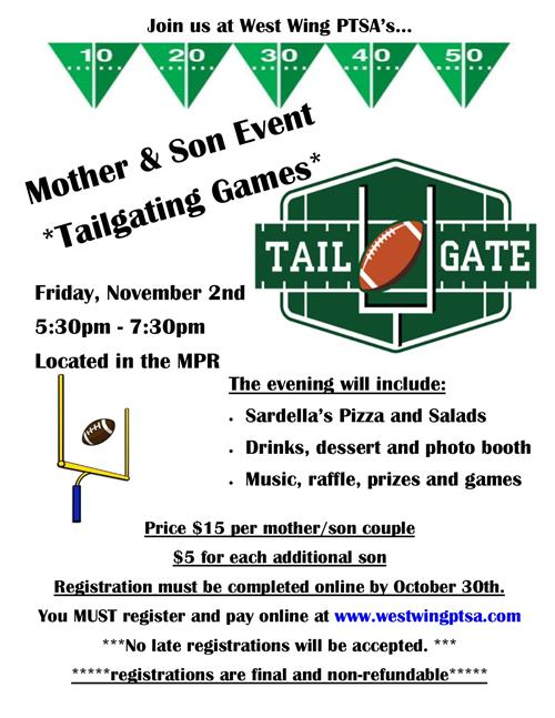 PTSA Mother Son Event