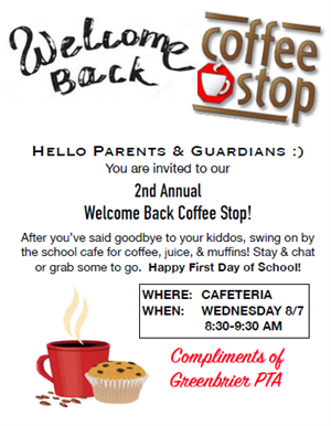 Welcome Back Coffee Stop