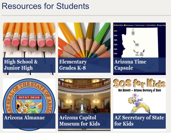 Resources for Students webpage graphics