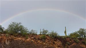 Rainbow over New River Elementary