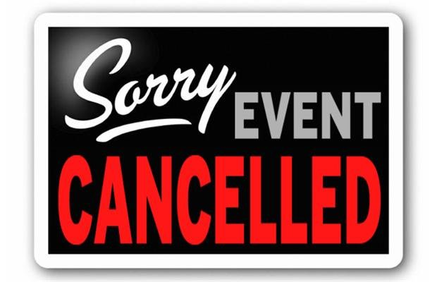 Events Canceled sign