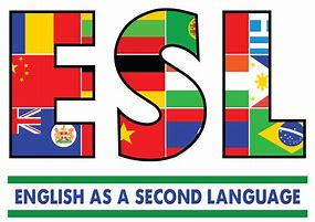 ESL - English as a Second Language - decorated with flag images from other countries
