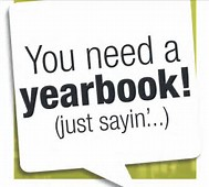 """You need a Yearbook""  ""Just sayin..."" written on sticky note"