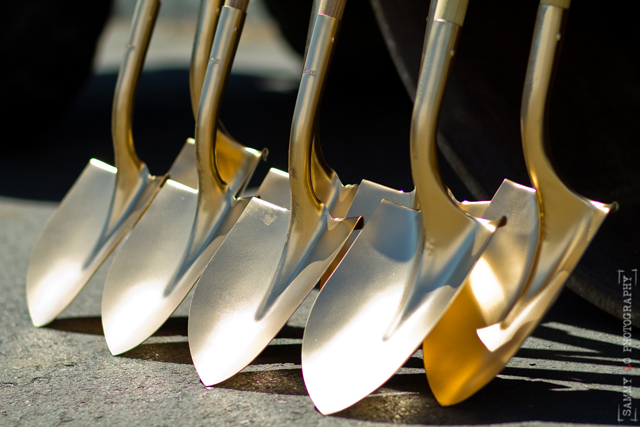 Golden Shovels for Groundbreaking