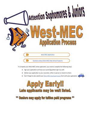 West Mec Application Information Flyer