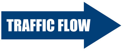Drop off and pick up traffic flow