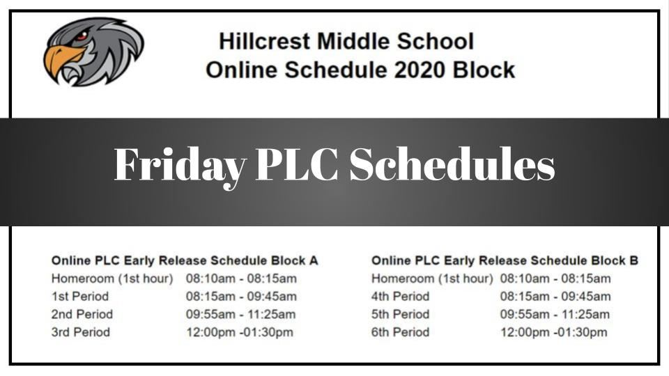 Friday PLC Schedules