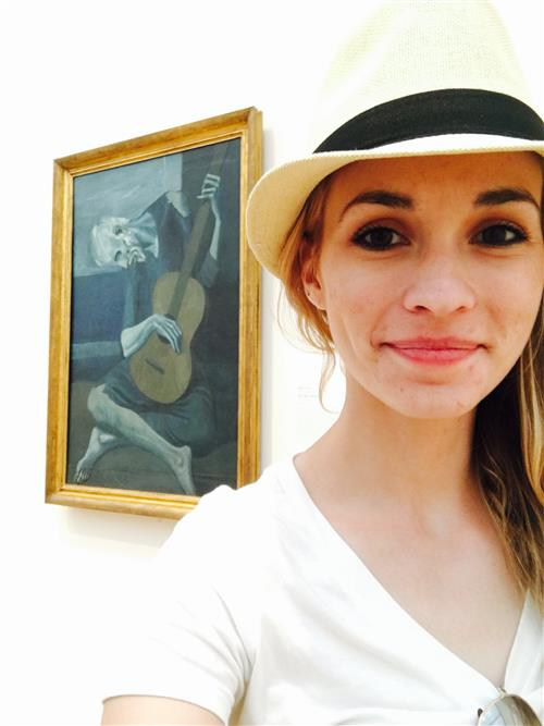 "Picasso's ""The Old Guitarist"" at the Art Institute of Chicago, June 2016"