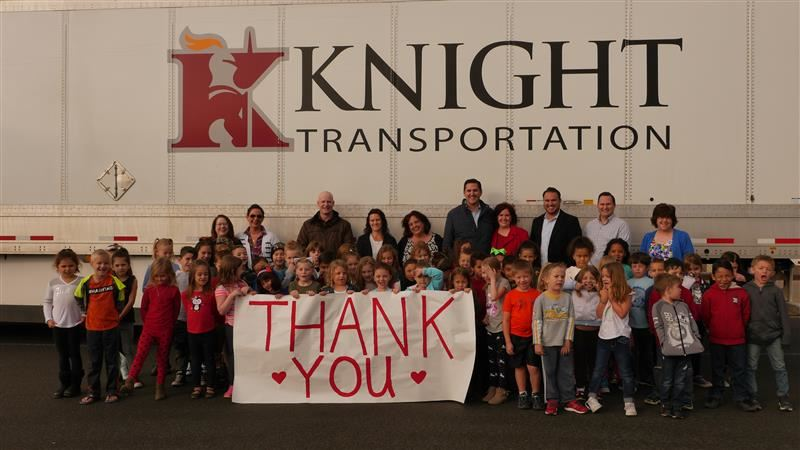 Knight Transportation Donates to Bellair Elementary