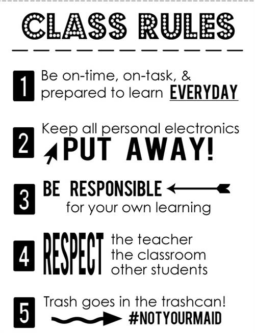 Here are our class rules!