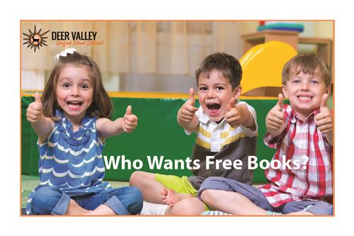 Photo with kids/Who wants Free Books graphic