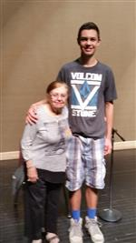 Student with Mrs. Adelman