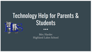 TECH Help for Parents/Students