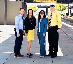 Photo of Mr. Evans, Ms. Pace, Dr. Stulc, and Dr. Comer