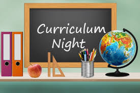 Curriculum Night is Aug. 28th.