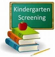 Kindergarten Screening is July 29th from 9am - 3pm.