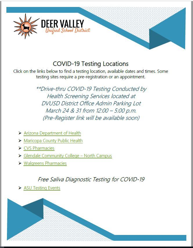 Covid-19 Testing Locations