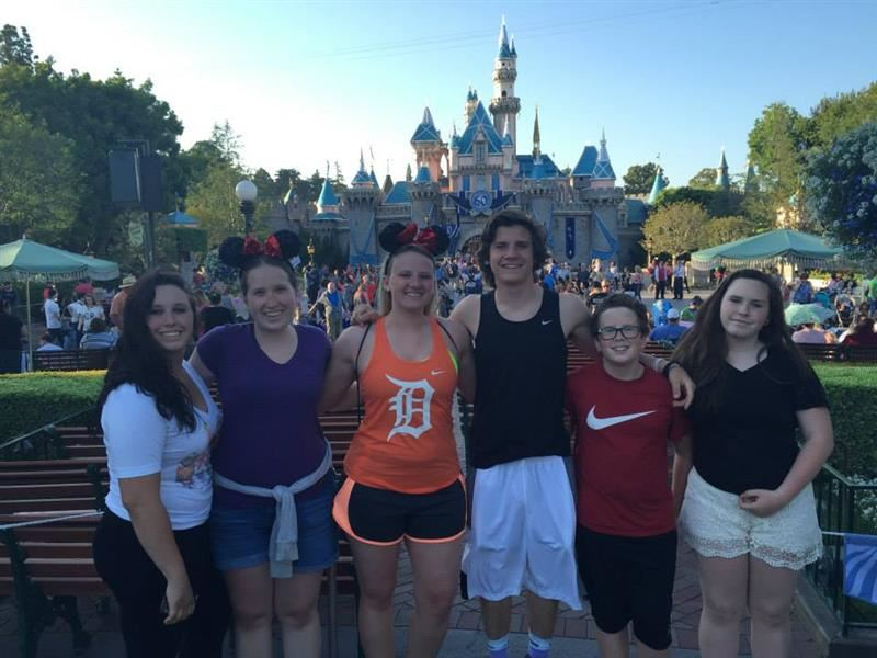 Disneyland with my family!