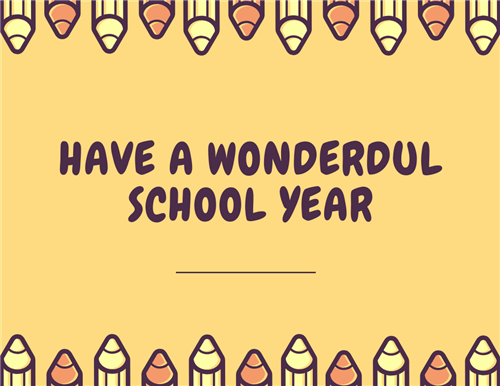 Have a Wonderful School Year