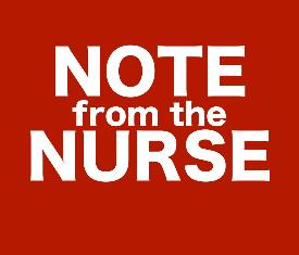 Note from the Nurse sign