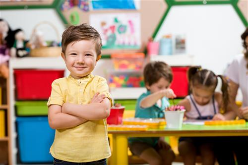 young student in classroom