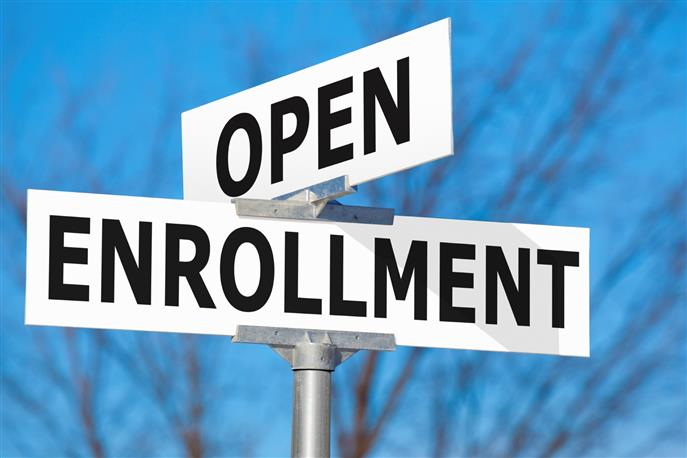Open enrollment sign