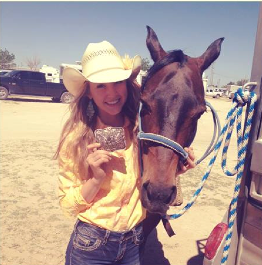 eSchool student Sierra with horse